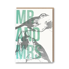 Mr & Mrs Letterpressed Card-cards-The Vault