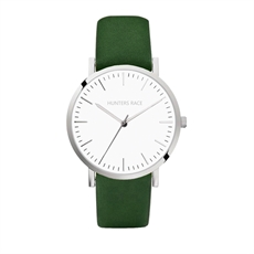 Flora Watch with Green Leather Strap-clothing-and-accessories-The Vault