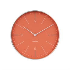 Karlsson Normann Numbers Clock Orange-house-The Vault