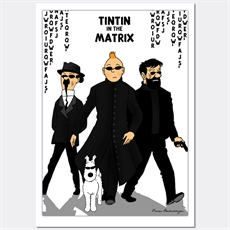 Tintin In The Matrix Print A3-home-and-wedding--The Vault