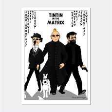 Tintin In The Matrix Print A4-house-The Vault