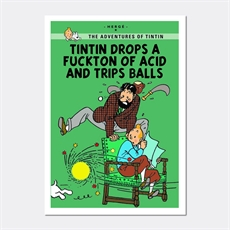 Tintin Drops Print A4 -view-all-under-$50-The Vault