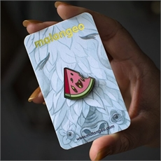 Zombie-Melon Hard Enamel Pin-new-The Vault