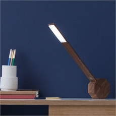 Octagon One Walnut Desk Light-house-The Vault