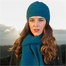 Herringbone Beanie Pacific-for-her-The Vault