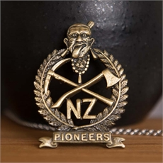 Mahara NZ Pioneer Battalion Badge-jewellery-The Vault