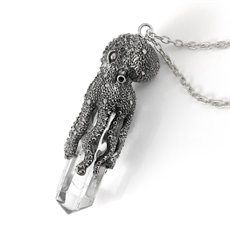 Octopus Laser Necklace Quartz Crystal   -jewellery-The Vault