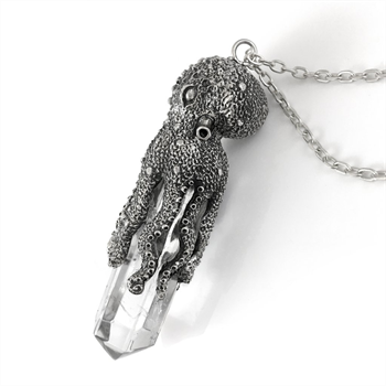 Octopus Laser Necklace Quartz Crystal
