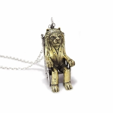 Lion King Necklace Brass and Silver-jewellery-The Vault