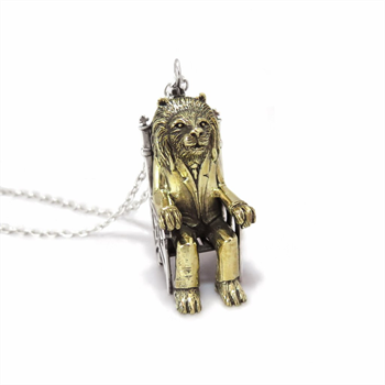 Lion King Necklace Brass and Silver
