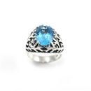 Snowflake Ring Blue Topaz