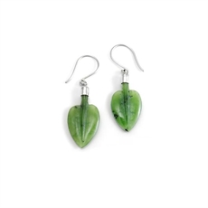 Pohutukawa Leaf Earrings Pounamu-jewellery-The Vault