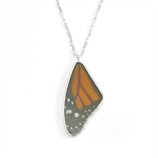 Monarch Wing Necklace Stg Silver-jewellery-The Vault