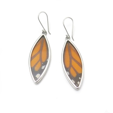 Monarch Leaf Earrings Silver-jewellery-The Vault