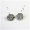 Dotted Line e/r Oxidised Stg Silver -jewellery-The Vault