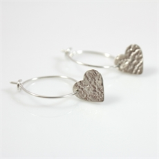 Sweetheart Earrings Sterling Silver-jewellery-The Vault