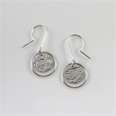Roundabout Earrings Sterling Silver-jewellery-The Vault