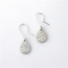 Teardrop Earrings Silver-jewellery-The Vault