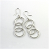 Overlap Trio Earrings Sterling Silver -jewellery-The Vault
