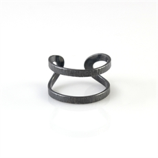 Wrap Ring Oxidised Sterling Silver-jewellery-The Vault