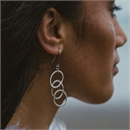 Overlap Trio Earrings Sterling Silver