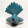 Ceramic Fantail Wall Art Soda Turquoise-home-and-wedding--The Vault
