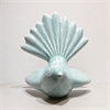 Ceramic Fantail Wall Art Turquoise Green-home-and-wedding--The Vault