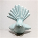 Ceramic Fantail Wall Art Turquoise Green