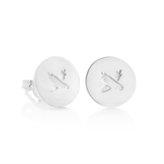 Discologo Studs Silver -jewellery-The Vault