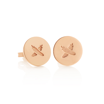 Discologo Studs 9ct Rose Gold