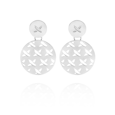 Discologo Medium Earrings Silver -jewellery-The Vault