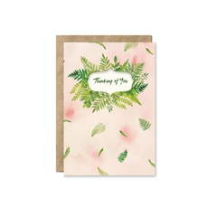 Fern Bouquet 'Thinking of You' Card-cards-The Vault