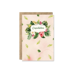 Flower Bouquet 'Congratulations' Card-cards-The Vault