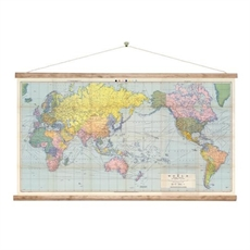 World Map Wall Chart-for-him-The Vault