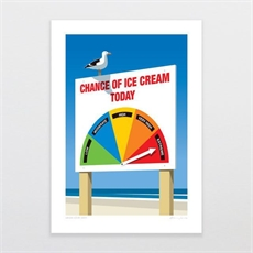 Chance of Ice Cream Today A4 Print-artists-and-brands-The Vault