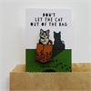 Cat in Bag Enamel Pin-jewellery-The Vault