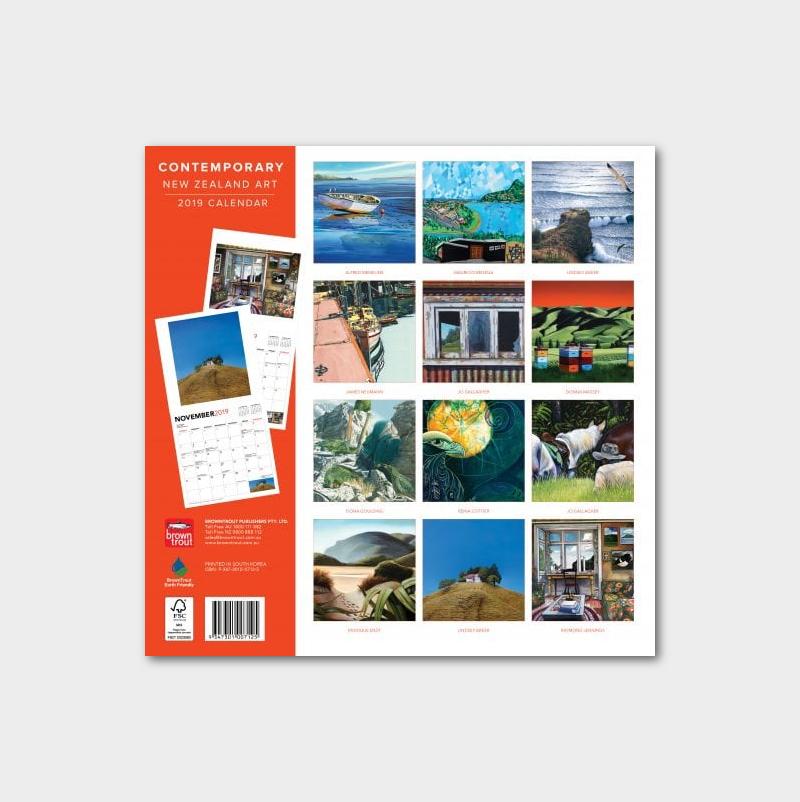 contemporary nz art 2019 calendar