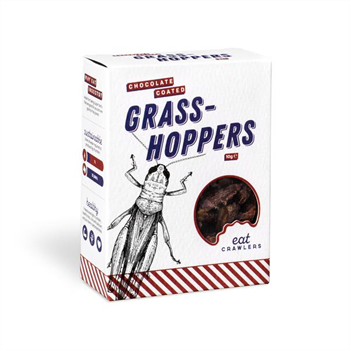 Chocolate Coated Grasshoppers 10g Box
