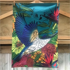 Flox Kingfisher/Kotare Tea Towel -new-The Vault