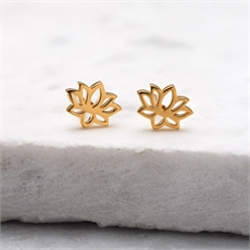 Baby Lotus Studs Gold Vermeil-new-The Vault