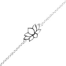 Dainty Lotus Bracelet-new-The Vault