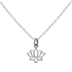 Dainty Lotus Necklace-new-The Vault