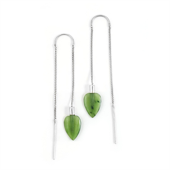 Airborne Earrings Greenstone