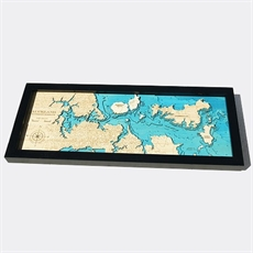 Hydrographic Art Map Auckland Medium-new-The Vault