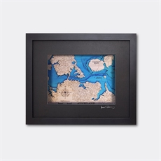 Hydrographic Art Map Auckland Small-new-The Vault
