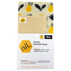 Organic Beeswax Food Wrap 2pk Flower -artists-and-brands-The Vault