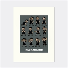 D Frizzell 'Kia Kaha Kid' Matted Print-new-The Vault