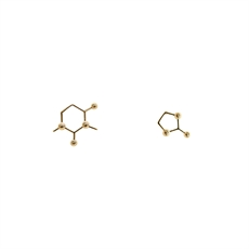 Funky Play Earrings Molecule Gold-new-The Vault