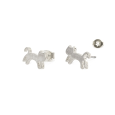 Funky Play Earrings Jumping Cat Silver-new-The Vault