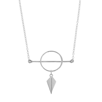 Infinity Necklace Circle Shield Short St